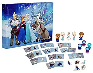 Disney Frozen DFR15-Y17-6345 - Calendario de Adviento con Borrador de Puzzle, Multicolor