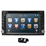 hizpo 6.2 Inch Universal Double 2 Din in Dash Car CD DVD Player GPS Stereo Radio BT USB iPod RDS + Free MAP Card + Reverse Camera