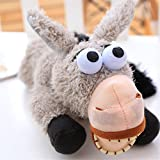 Toonol 11.81inch Intelligent Voice Control Laughing & Rolling Electronic Pet Donkey Wallow Funny Donkey Joke Doll Toy Kids Birthday Gifts
