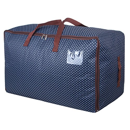 DOKEHOM DKA1011BL2 100L Large Storage Bag (4 Colors), Fabric Clothes Bag, Thick Ultra Size Under Bed Storage, Moisture Proof (Blue)