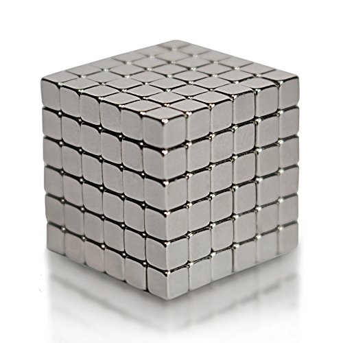 Executive Magnetic Metal - EDC Fidgeter 3mm Magnetic Cube Puzzle Prime Quality Fidget Toys Fidget Cube. Ideal Office Stress Relief Executive Desk Toy. Magic Metal Square Fidget Magnets Cool Gadget.