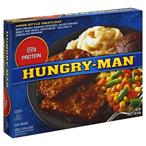 HUNGRY MAN TV HOMESTYLE MEATLOAF DINNER 1 LB PACK OF 3