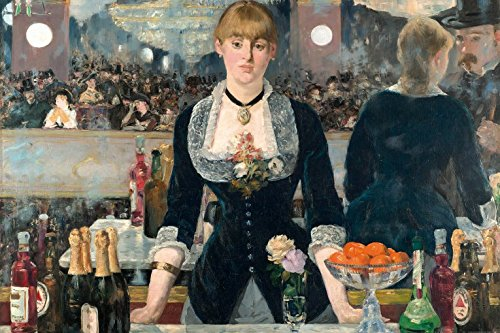 (Edouard Manet Poster Adhesive Photo Wall-Print - A Bar at The Folies-Bergère, 1881-1882 (71 x 47 inches))