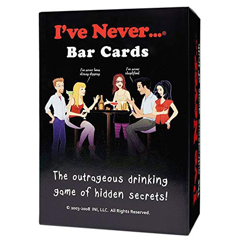 I've Never Bar Cards: Party Game for College Students Fraternities Sororities Bachelor Bachelorette 21st Birthday Parties (The Best Drinking Game Ever)