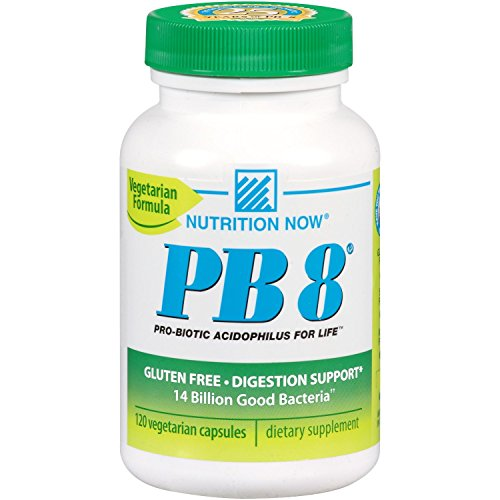 Now PB 8 Pro-Biotic Acidophilus Capsules, Vegetarian, 120-Count Bottles 60 - Biotic Capsules