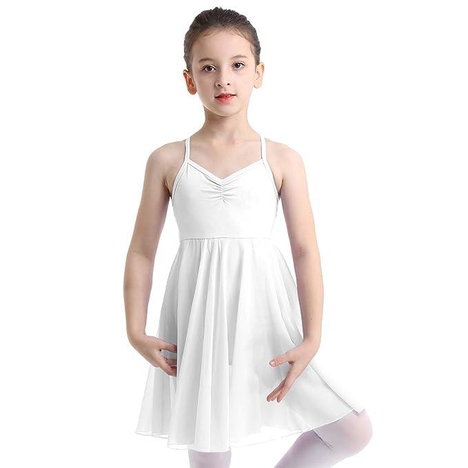 inhzoy Vestido de Danza Ballet para Niña Maillot de Gimnasia ...