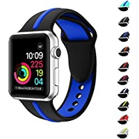 Wanhua Thin Blue Line 42mm/44mm Watch Band for Apple Watch
