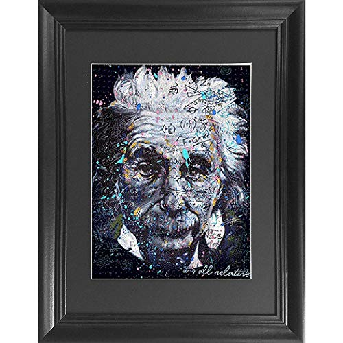 (Albert Einstein 3D Poster Wall Art Decor Framed Print | 14.5x18.5 | Lenticular Posters & Pictures | Memorabilia Gifts for Guys & Girls Bedroom | Quantum Genius of Physics &)