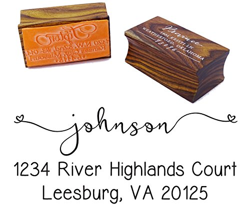 Custom Return Address Stamp Personalized Wood Mounted Rubber Stamp Invitation Gift Printtoo