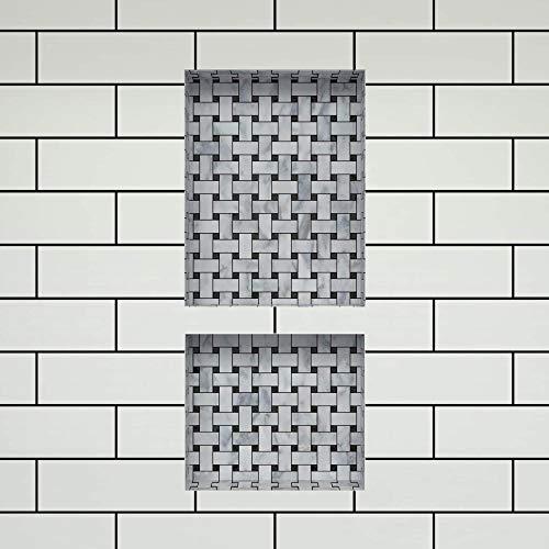 Tile Redi USA RND1620S-14 Shower Niche 16''W x 34''H Black by Tile Redi USA (Image #2)