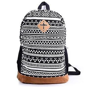 Amazon.com : BuW Women Floral Nationality Canvas School Bag Travel ...