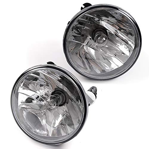 - 1 Pair Clear Lens Bumper Driving Lamps Fog Lights With H3 Bulbs For 07-14 GMC Acadia Yukon Pontiac G8 G6 Chevy Camaro Suburban Tahoe Ford Mustang Explorer Escape