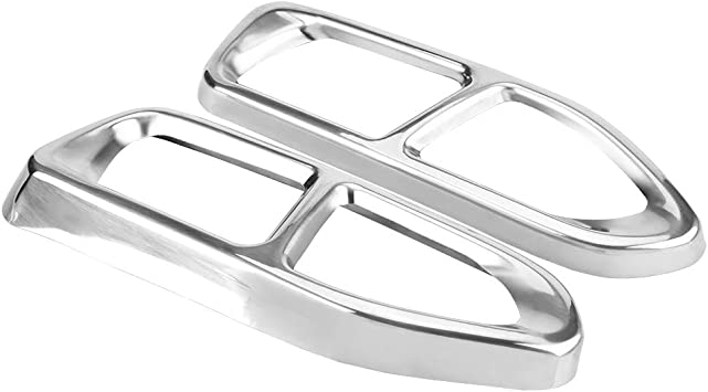 YIWANG 304 Stainless Steel Pipe Throat Exhaust Outputs Tail Frame Trim Cover 2Pcs For BMW 7 Series G11 G12 730 740 750li 2016-2019 Auto Accessories Gloss Black