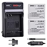DIGIeye NB-4L Replacement Battery (2 Pack) and Charger for Canon PowerShot ELPH 100 HS, 300 HS, 310 HS, SD1000, SD1100 is, SD1400 is, SD200, SD30, SD300, SD40, SD400