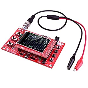 """Zoefree DSO138 Digital Oscilloscope Kit 2.4"""" TFT Open Source Handheld Pocket-size DIY Parts Electronic Learning Set with Probe Assembled vision (Welded)"""