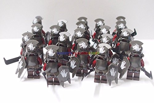 New Lord of the Rings Minifigures 20 x Uruk-Hai w Sword Armor Shield CustomBrand