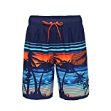 Rokka&Rolla Men's Quick Dry Drawstring Waist Swim Trunks Board Shorts with Mesh Lining