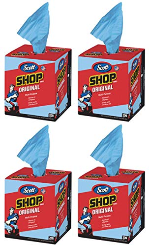 Scott DMQWAVGW Kimberly-Clark 75190 Shop Towels, 10'' x 12'', Blue, 4 Box of 200 Towels by Scott (Image #5)