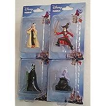Disney Movie Villains - 4 Character Figurines From - Peter Pan, Little Mermaid, 101 Dalmatians, Sleeping Beauty