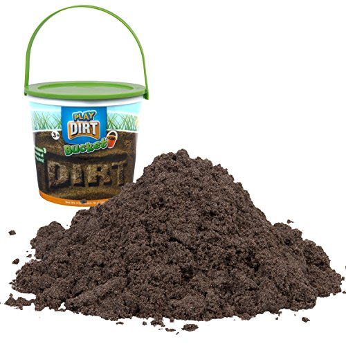Brown Earth Planet - Play Dirt Bucket (3 Lb) - Unique Kinetic Dirt-Like Sand For Burying and Digging Fun by Sands Alive