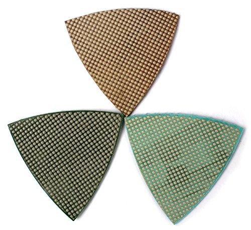Diamond Triangle Sandpaper Sanding Pads for Oscillating Tools Marble Granite Glass Stone Polishing by Z-LION (Polishing Triangle Stone)