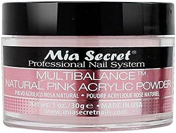 Imagen deMia Secret acrílico Nail Art polvo, 30ml, Natural, color rosa