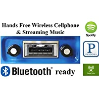 Bluetooth Enabled 1967-1972 Chevy Truck USA-630 II High Power 300 watt AM FM Car Stereo/Radio