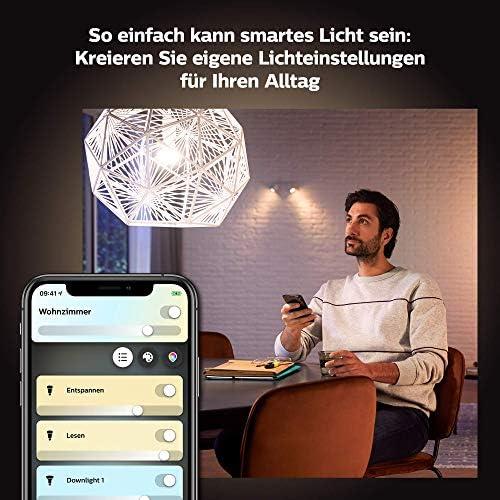 Philips Hue White Ambiance E27 LED Lampe Einzelpack, dimmbar, alle Weißschattierungen, steuerbar via App, kompatibel mit Amazon Alexa (Echo, Echo Dot)