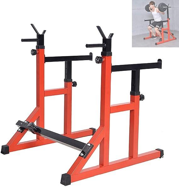 ZYXP T-Sport Squat Rack Peso Regolabile Sollevamento Bilanciere Casa Palestra Attrezzature Portatile Fitness Formazione Macchine Allenamenti Esercizio