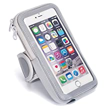 """Sports Armband Running Cell Phone Arm Band Touch Screen Sweatproof With Zipper Pouch for iPhone 6 Plus/ 6S Plus, 7 Plus, Samsung Galaxy S5 S6 S7, iPhone 5/5C/5S, 5.5"""" Screen Phones(Gray)"""