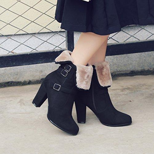 AIYOUMEI Women's Classic Boot Black Pj1G9cgRU