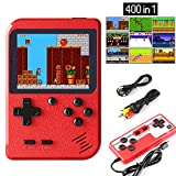 JAMSWALL Handheld Game Console, Retro Mini Game Player with 400 Classical FC Games 2.8-Inch Color Screen Support for Connecting TV & Two Players 800mAh Rechargeable Battery Present for Kids and Adult