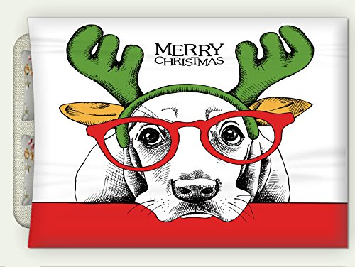 Minicoso Custom Flannel Throw Blanket Christmas Poster of A Dog Basset Hound Portrait in Mask Santa S Antler Reindeer and Glasses Vector Autumn Winter Warm HD Digitals Print Blanketry, 87
