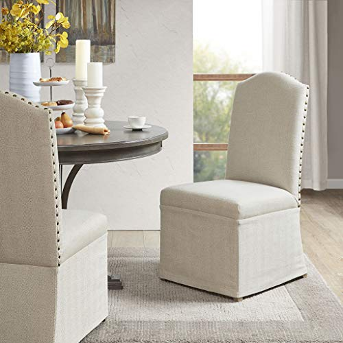 Madison Park Foster Set of 2 High Back Dining Chairs with Skirts See Below ()