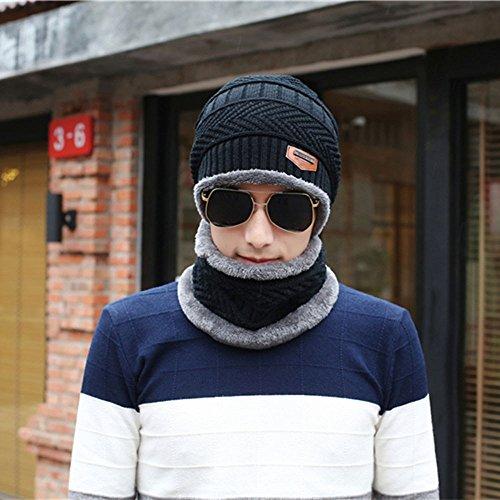 n Winter Warm Fleece Camping Hat Beanie Baggy Wool Ski Cap + Scarf ()