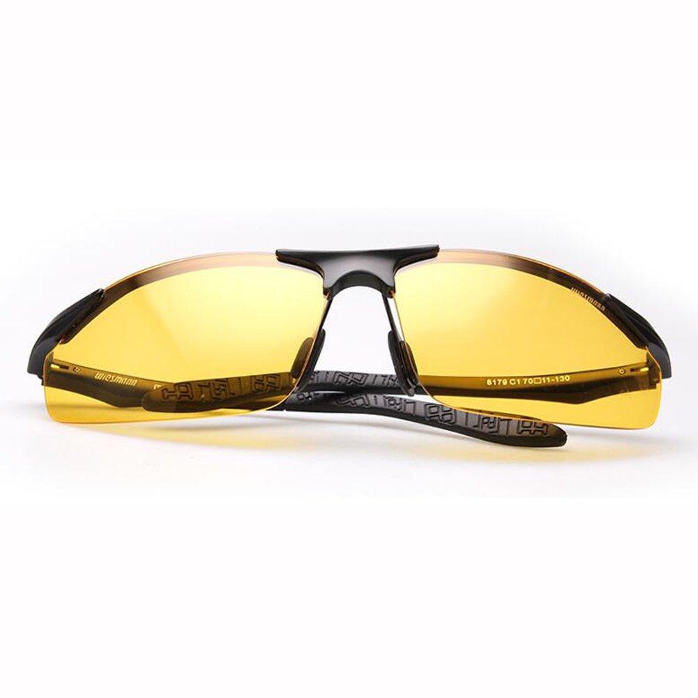 b2bec7b257 ZX Conductor Día Y Noche Uso Dual Anti Reflejante Hombres Gafas De Sol  Aleación De Al-MG Anti-UV (Color : 2): Amazon.es: Hogar