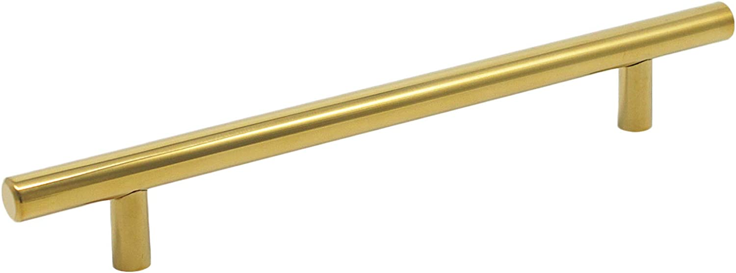Probrico 10 PCS Gold Stainless Steel 96mm Hole Centers Kitchen Cabinet T Bar Handle Furniture Drawer Pulls Cuoboard Knobs