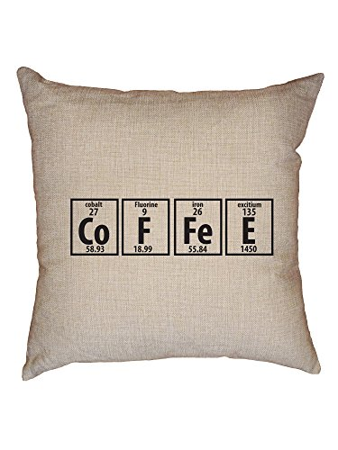 Hollywood Thread Coffee Periodic Table Funny Chemistry Science Decorative Linen Throw Cushion Pillow Case with -