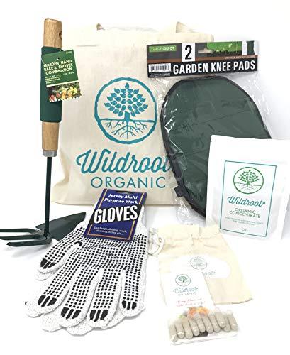 Wildroot Organic Mycorrhizal Fungi Gardening Gift Tote (Powder+Capsules+Other, 1 oz +10 plantsules +Other) ()