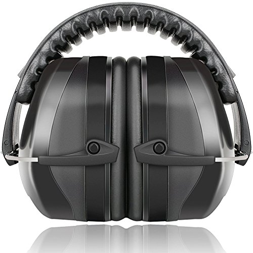 Fnova 34dB Highest NRR Safety Ear Muffs - Professional Ear Defenders for Shooting, Adjustable Headband Ear Protection/Shooting Hearing Protector Earmuffs Fits Adults to Kids (Best Ear Protection For Nascar Race)