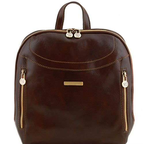 Tuscany Leather Manila Leather backpack Dark Brown by Tuscany Leather
