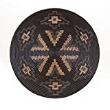 23'' Black and Brown Woven Look Decorative Tribal Charger