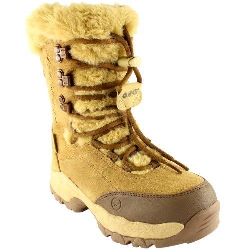 Brown Winter Hi Fur Boots Mid Tec Faux Womens Calf St Moritz Rain Suede 200 II WY61qg4w