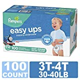 Pampers Easy Ups Diapers Size 5 (3T-4T), Pull On Disposable Training Diaper for Boys, GIANT PACK, 100 Count