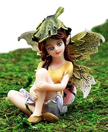 Garden Fairy Boy Figurine Ganz Outdoor Fantasy Mini Nature Bird Woods Plants