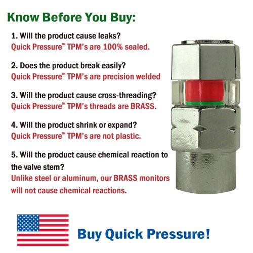 Quick Pressure QP-000050 Chrome Plated Brass 50 psi Tire Pressure Monitoring 4