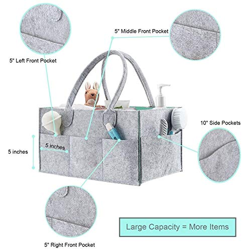 TOOGOO with Lid Storage Bag Foldable Baby Diaper Caddy Organiser Gift Kid Toys Portable Bag Box for Car Travel Changing Table Organizer