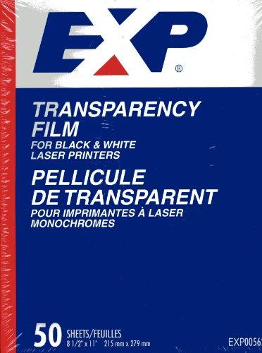 Presentation Laser Transparencies - EXP Transparency Film for Black and White Laser Printers - EXP00562