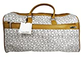 Calvin Klein Luggage Large Travel Bag Duffle Tote (ALmond/Khaki/Camel)