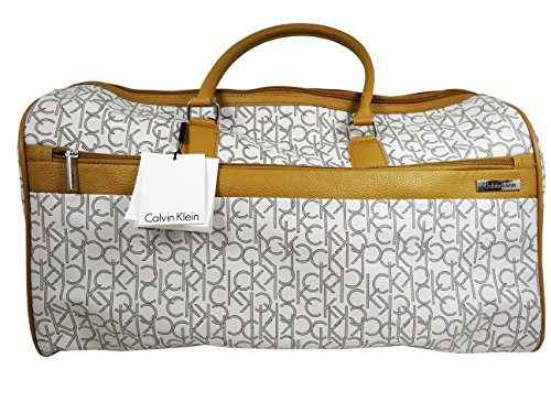 Calvin Klein Luggage Large Travel Bag Duffle Tote (ALmond/Khaki/Camel) by Calvin Klein